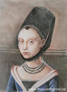 portret van een jonge edelvrouw