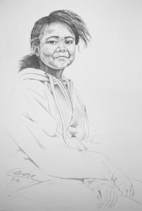 dochter frans portret ZW-klein