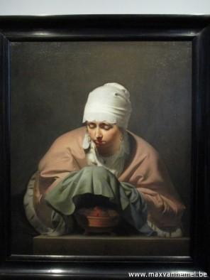 Rijksmuseum - Jonge vrouw warmt haar handen