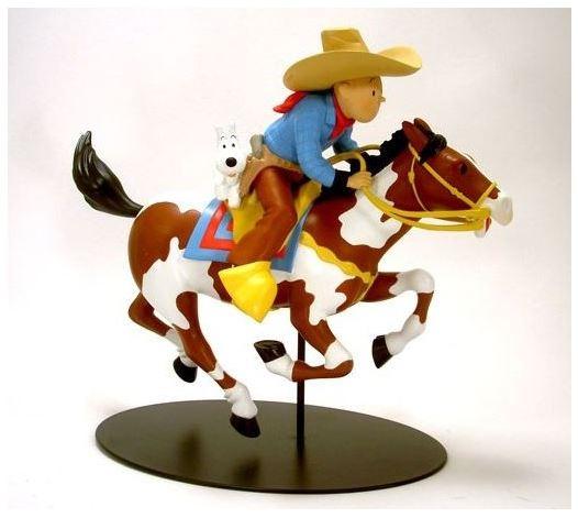 kuifje in amerika beeld paard