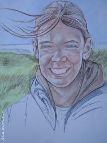 Portret Maya - bijna klaar
