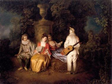 Jean-antoine-Watteau-Party-of-Four
