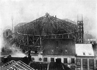 Het nieuwe circus na de brand 1923